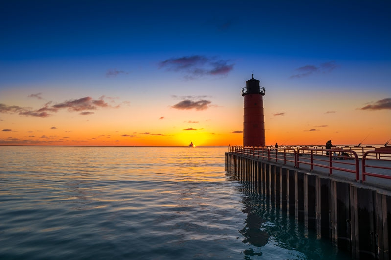 Milwaukee Harbor Sunrise