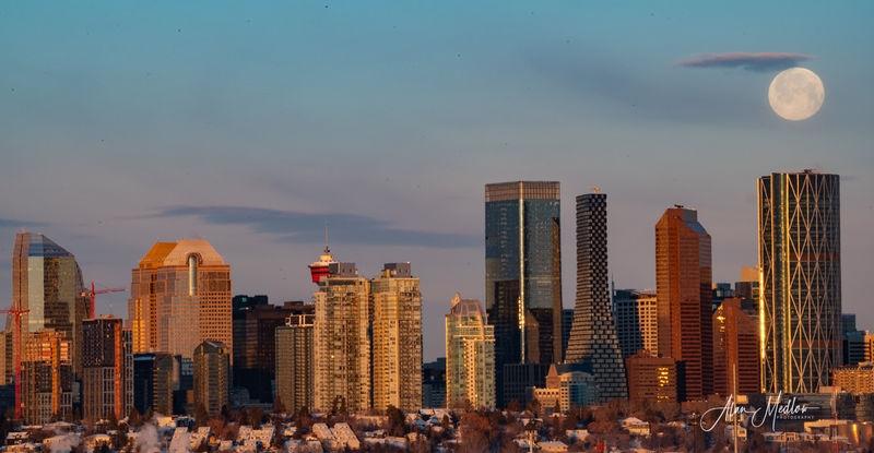 Full Moon Setting Calgary