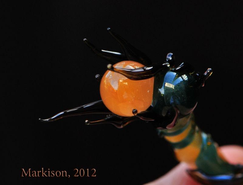 Handmade Boro Glass Marble Blossom