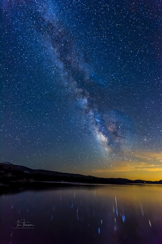 The Milky Way With Star Reflections