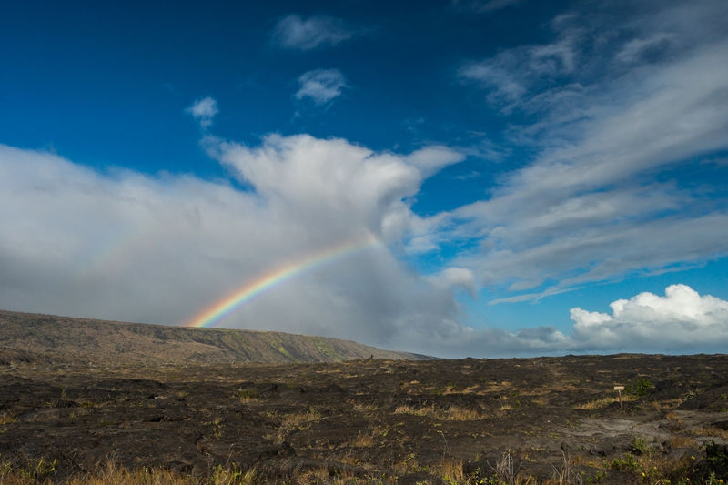 Rainbow in Hawaii Volcanos National Park