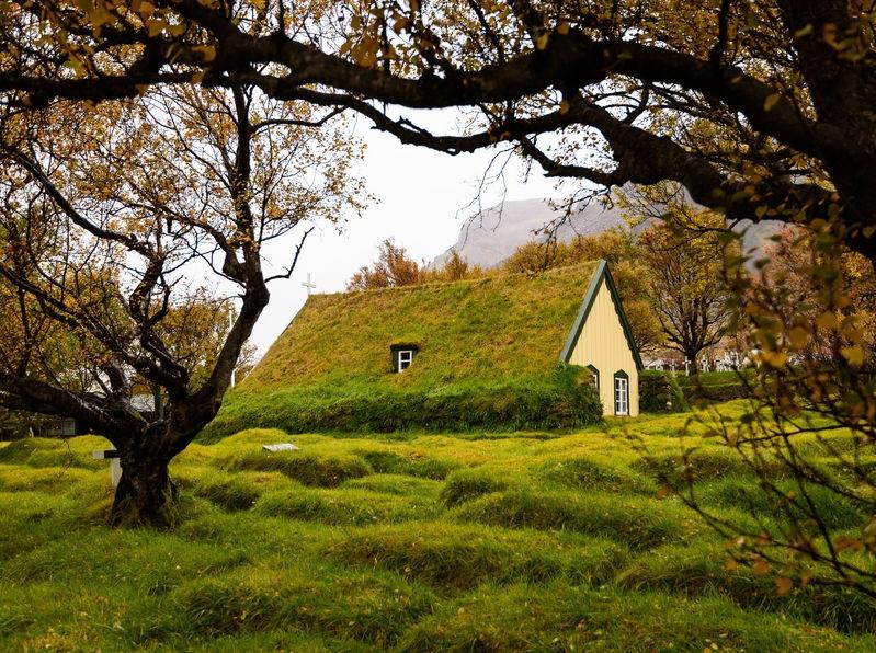 Iceland: Hofskirkja church in Hoff