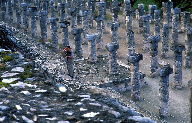 Chris Gray at the Temple of the 1000 columns