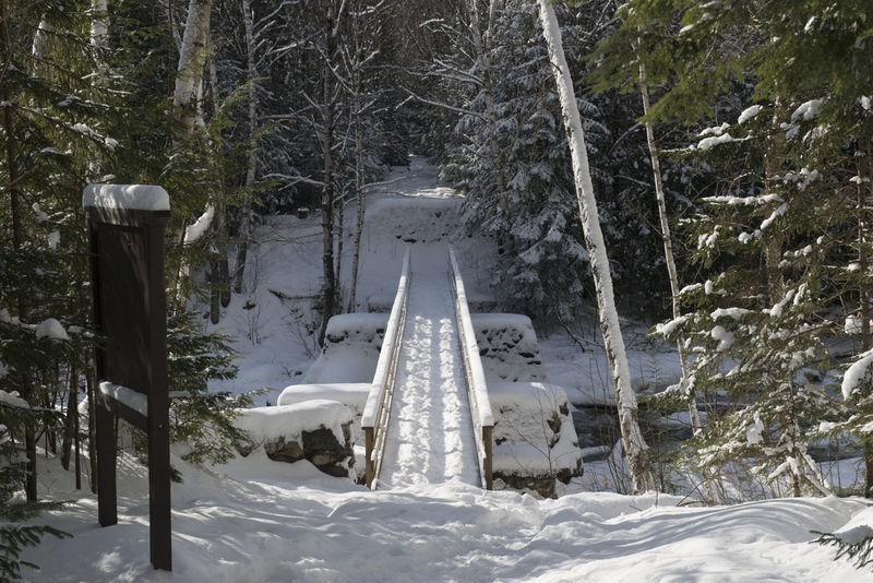 Bridge over North Branch of Pemigewasset River, White Mountain National For