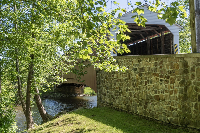Restored covered bridge
