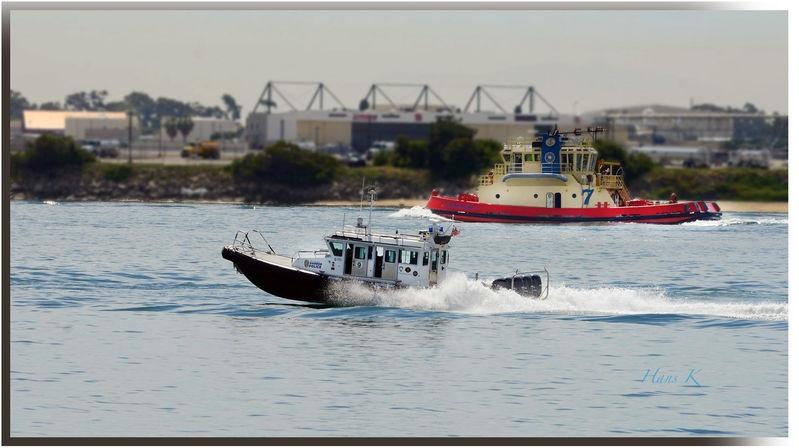 Bay boats moving