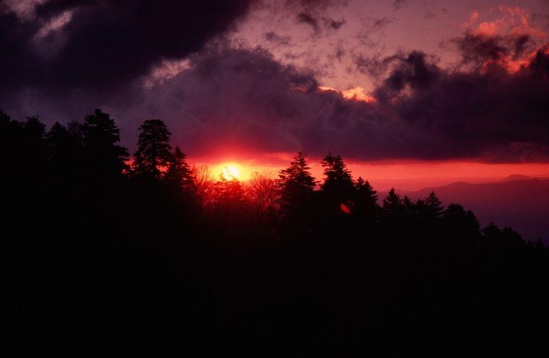 Sunrise at Newfound Gap