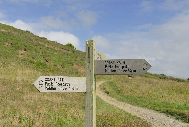 Cornwall Coastal Path Sign